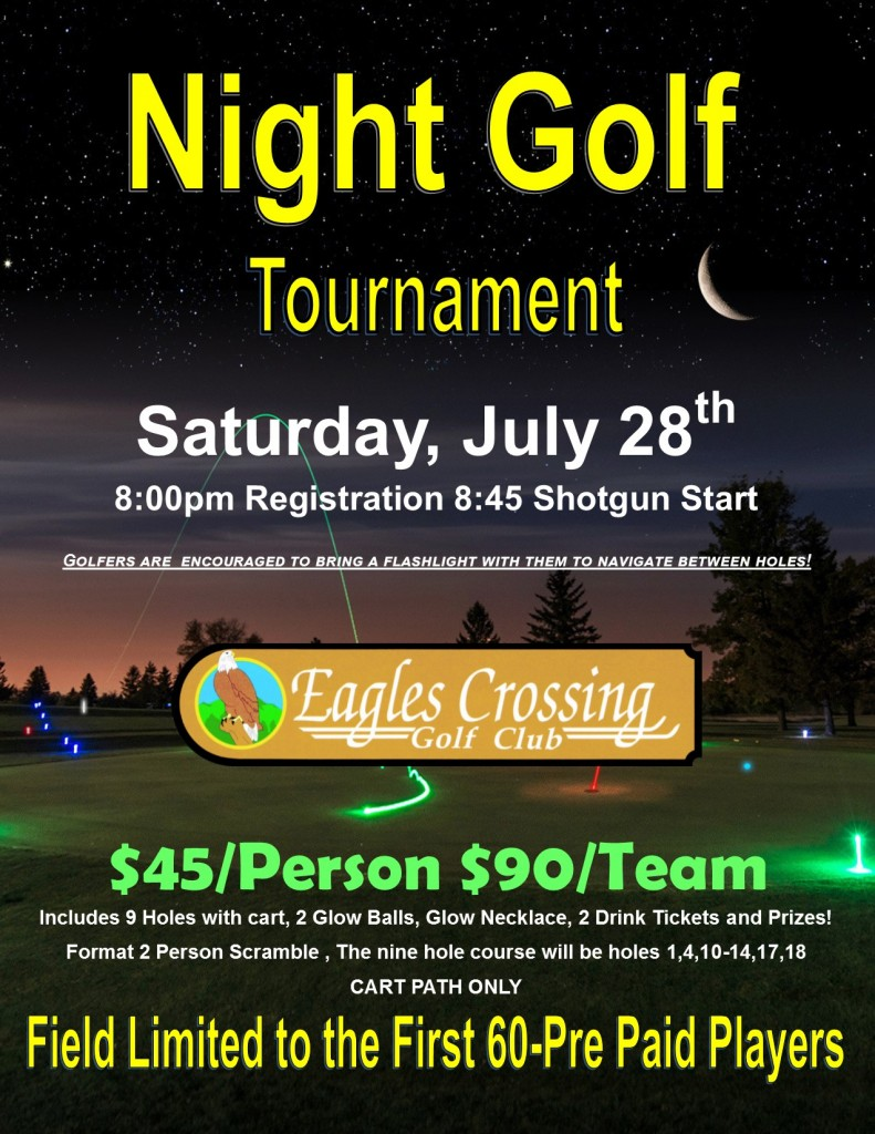 Night Golf Flyer July